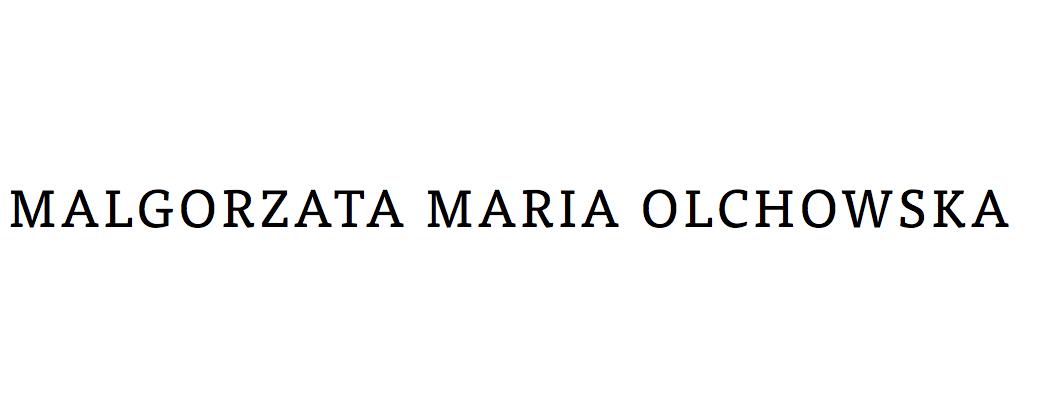 Malgorzata Maria (Gosia) Olchowska